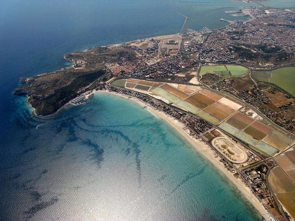 SRD Cagliari Poetto Vista aerea
