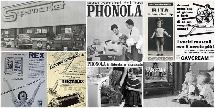 stile di vita consumistico anni 50