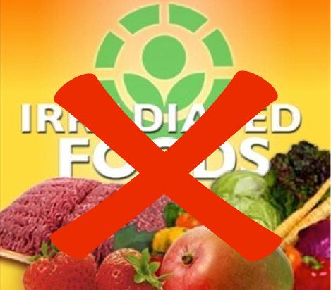 Come evitare gli alimenti irraggiati
