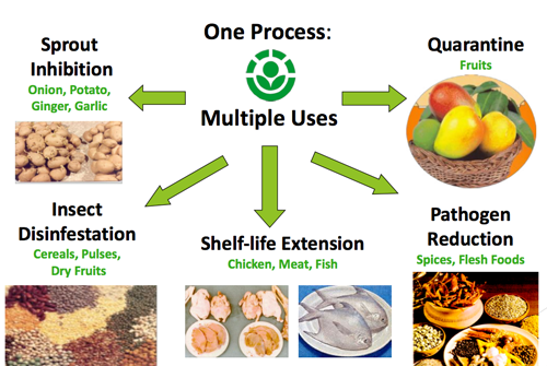 Finalità del processo di irraggiamento degli alimenti