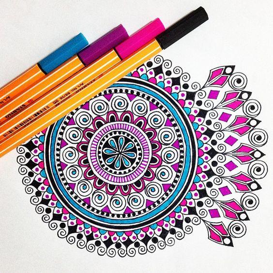 mandala da creare e colorare